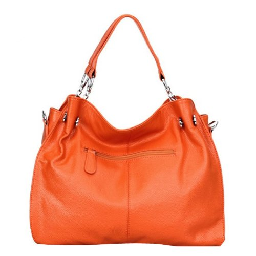 porté main Q0217 Sac femme épaule Sac Sac bandoulière cuir à DISSA Orange femme zfwqxZzt