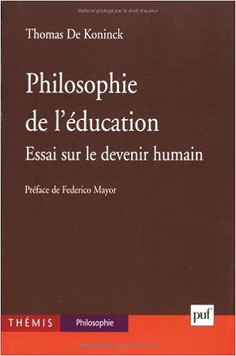 Télécharger en ligne Philosophie de l'éducation : Essai sur le devenir humain pdf, epub ebook