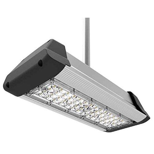 (DLC-Listed LED 50 Watt Parking Garage Commercial Light, 5000K Neutral White, 120V-277V, Comparable to 175-250W MH-HPS, 5500 Lumens, Ceiling Mount, UL-Listed, LEDrock Warranty Based in Denver, CO, USA)