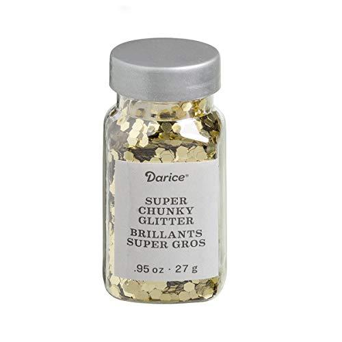 Darice 000030029612 Super Chunky Glitter, - Glitter Gold Darice