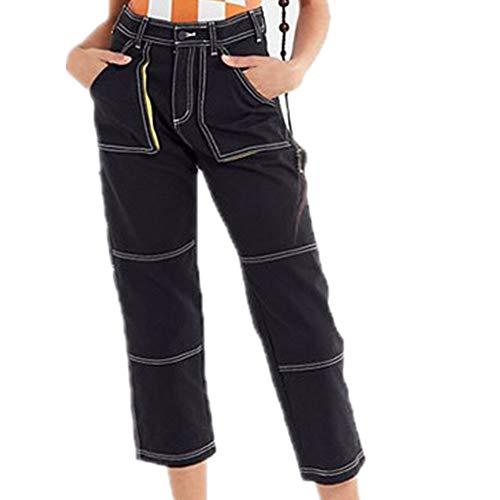 Denim Para Moontang Skinny Mujer Cotton color Negro Negro Nine Lápiz Tamaño Elásticos Jeans Anchos Leggings Pantalones L Pant qfYfWrEAv