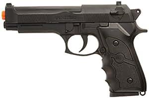 BBTac BT-M757B-(x2) Dual Spring 260 FPS Airsoft Gun (2-Pack), Black