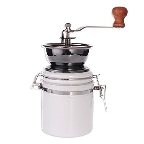 KLXEB Jade Cerámica Blanca Máquina Esmeriladora Máquina De Moler Granos De Café Molino Hogar Pulverizador: Amazon.es: Hogar