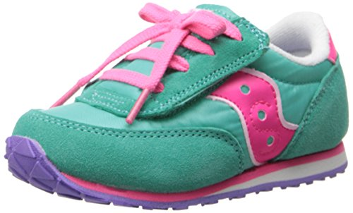 Saucony Baby Jazz A/C Sneaker (Toddler/Little Kid),Turquoise/Pink,8 M US Toddler