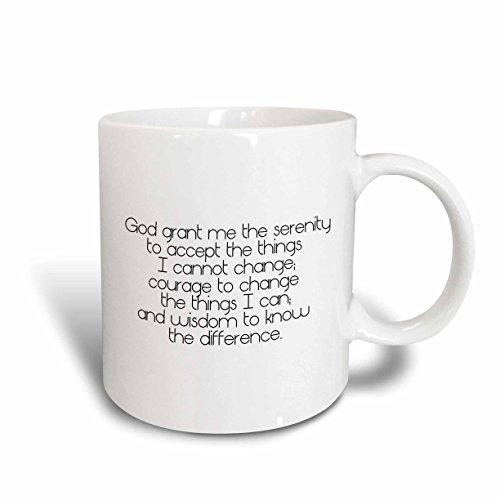 3dRose mug_195667_2 Serenity Prayer Ceramic Mug, 15-Ounce