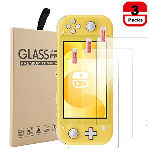 Tempered Glass Screen Protector Compatible with Nintendo Switch Lite 2019 (3 pack)