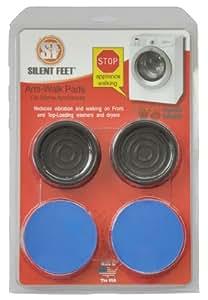 Premium Ocean Blue Anti-walk Silent Feet - Anti-Vibration Pads for Washing Machines and Dryers
