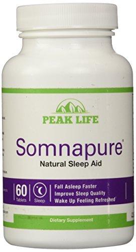 Peak Life - Somnapure Natural Sleep Aid Bonus Pack - 60 Tablets (Pack of 3)