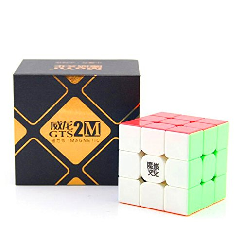 - CuberSpeed MoYu WeiLong GTS2 M stickerless 3x3 Magic cube magnetic MoYu WeiLong GTS V2 M color 3x3x3 Speed cube Puzzle