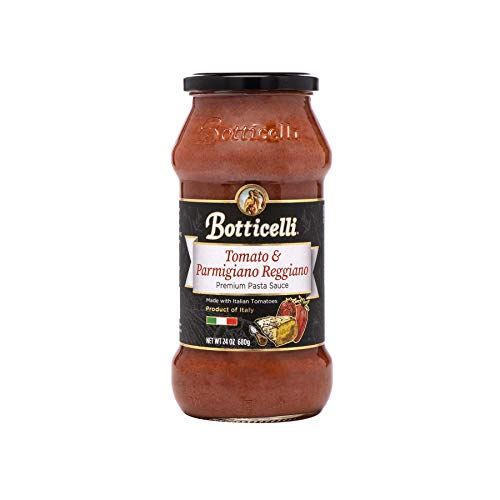 Botticelli Parmigiano Reggiano Premium Pasta Sauce. Delicious Homemade Style Red Sauce Made in Italy, with Natural Ingredients in Small Batches (24oz/680g)