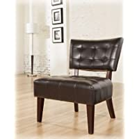 Ashley Furniture Signature Design - Matrix Showood Accent Chair - Contemporary Style Side Chair - Chocolate Brown