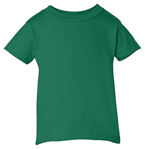 Rabbit Skins Infant Comfort Ribbed Crewneck T-Shirt, Forest, 6 (Forest Ribbed)