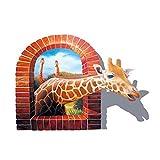 3D Creative High Definition Stickers Window Giraffe Art Mural Art carft Decor Wallpaper Nursery Room Living Room