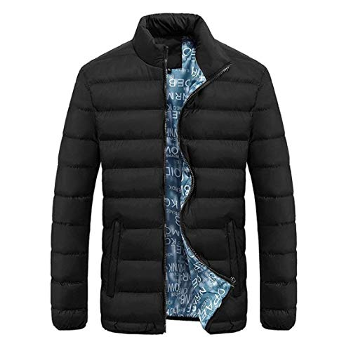 Coat Coat Solid Thick Men Jacket Men Casual Men Collar Polyester in Blend Men Outerwear Down Schwarz Parka Turndown 4 Apparel Color Down Huixin Cotton Casual Warm Slim Winter Warm gIPx6xn