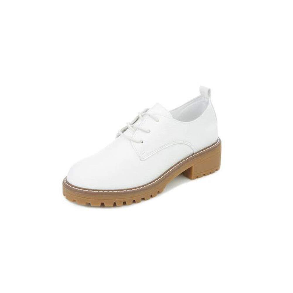 FF Retro Martin Stiefel Frau Mittlere Ferse Kleine Weiße : Schuhe Damenschuhe (Farbe : Weiße Weiß, Größe : EU36/UK4/CN36) - 81dc35