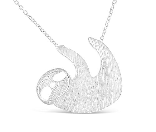 Rosa Vila Vintage Sloth Necklace - Sloth Inspired Animal Jewelry for Women (Silver Tone) (Animal Necklace Jewelry)