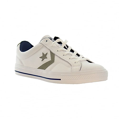 Converse Mens Star Player Ox White Leather Trainers 7 US
