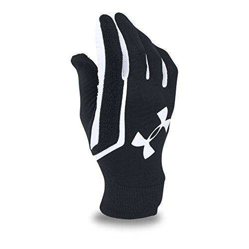 Under Armour Men's Field Players Glove, Black (003)/White, Small/Medium