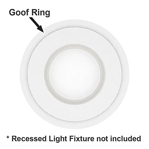 5 Pack White Plastic Trim Ring for 8'' Inch Recessed Can Down Light Oversized Lighting Fixture by HARRRRD (Image #2)
