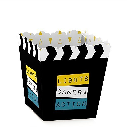 Movie - Party Mini Favor Boxes - Hollywood or Graduation Party Treat Candy Boxes - Set of 12