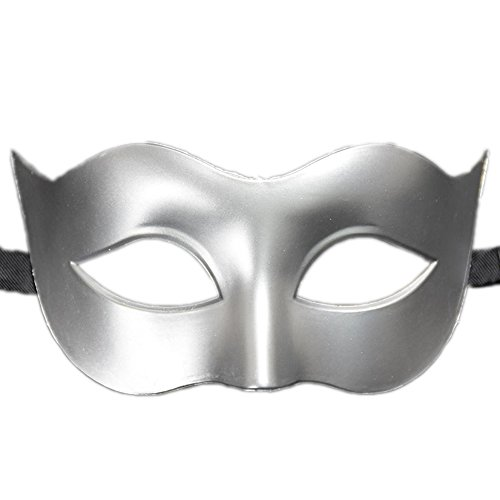 Rehot Mens Masquerade Mask Vintage Half Face Party Mask Mardi Gras Christmas Halloween Mask (Silver 3) ()
