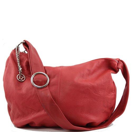 Rouge Sac Tuscany Porté Cuir Épaule Leather 0q4XqP