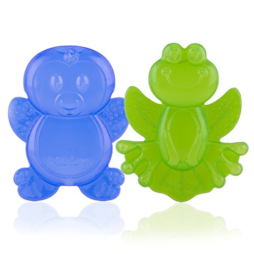 Nuby 2-Pack Kool Soother Water-Filled Teethers, Styles May Vary
