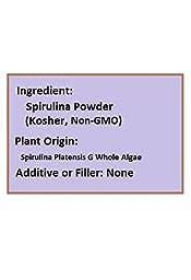NuSci Spirulina Powder Pure Fresh Kosher Energy GMO Free & Non-Irradiated (1000 grams (2.2 lb))