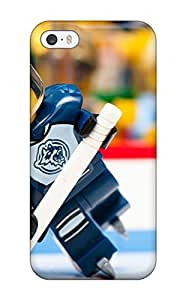 High Quality Shock Absorbing Case For Iphone 5/5s-ice Sports Funny Nhl Macro Ice Hockey Legos