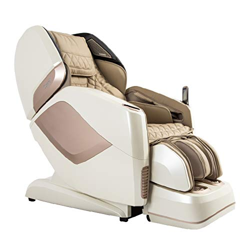 Osaki OS-Pro Maestro 4D Zero Gravity Massage Chair with Heated Rollers, L-Track Design, Touch Screen Remote (Ivory)