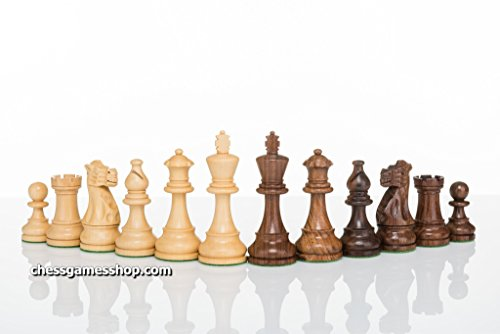 American Staunton Standard size wooden chess pieces - felted, weighted chessmen - chessgamesshop.com (Boxwood Standard Chess Pieces)