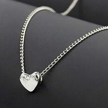 Love Heart Pendant Bib Statement Chain Gold Plated Necklace Women Jewelry