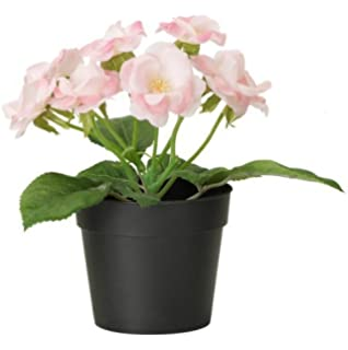 ikea fejka artificial potted plant small pink rose plant 7 tall 3 12 - Tall Potted Plants