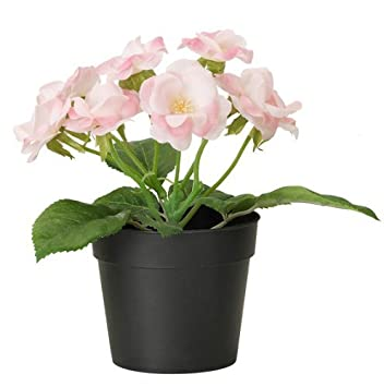 ikea fejka artificial potted plant small pink rose plant 7 tall 3 12