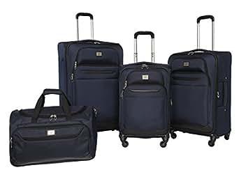 Amazon Com Dockers Classic Luggage Set Navy 4 Pack