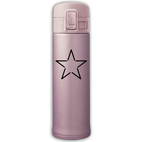 Star Insulation Vacuum Cup Bouncing Cover Stainless Steel Mug Bottle Coffee -