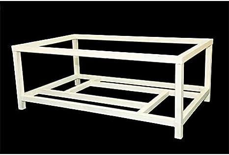 Mesa de Forja Elevable Grazalema - con aglomerado, 19-Blanco, Mesa de 120x70 cm.: Amazon.es: Hogar