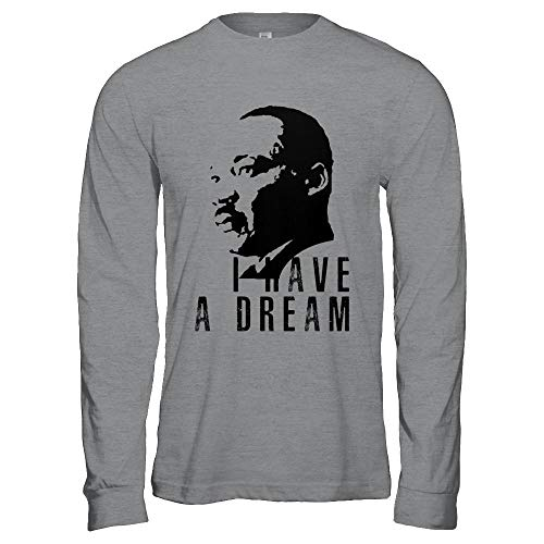 Martin Luther King Jr Equality Day Civil Rights Leader I Have A Dream Quote Gildan - Long Sleeve T-Shirt Sport Grey S