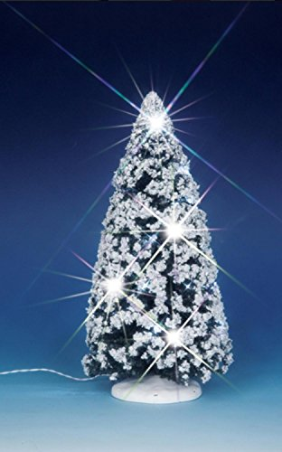 "Lemax 9"" Christmas Village Battery Operated Lighted Sparkling Winter Tree #04252"