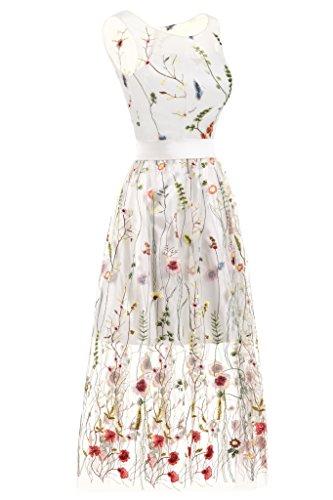 Ballkleider Abendkleid Erosebridal Lange Knöchellangen Blumen Stickerei Tüll 8C8TRqnw