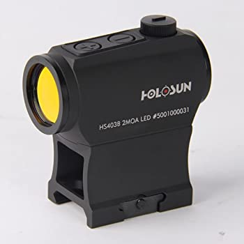 HOLOSUN HS403B Micro Red Dot Sight (2 MOA) with AR Riser