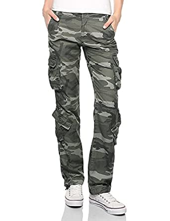 Match Women's Cargo Pants Sports Outdoors Military (X-Large, 641 ...
