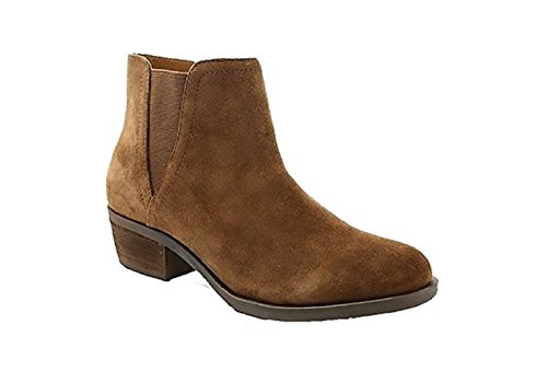 Womens Heel Medium Short (Kensie Women's Garry Suede Short Heel Ankle Booties (Brown, 7.5))