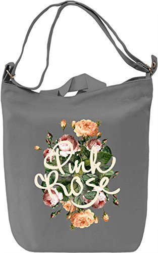 Rose Borsa Giornaliera Canvas Canvas Day Bag| 100% Premium Cotton Canvas| DTG Printing|
