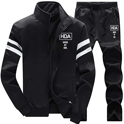 AOTORR Men's Casual Sweat Suit Set Full Zip Tracksuit Jogging Running Sportswear ()