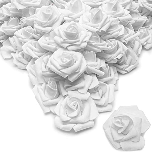 Bright Creations Rose Flower Heads Artificial Flowers (2 in Snow White 200-Pack)