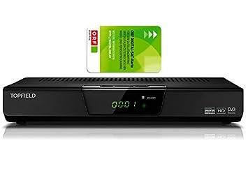 Topfield TF-S3000RHD HD receptor de satélite digital tarjeta ORF y cable HDMI