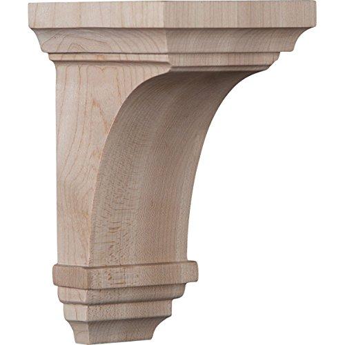 (Ekena Millwork CORW03X03X06JEMA Wood Corbel, 3 1/2