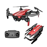 Inverlee X12 Drone 720P Wide Angle Camera WiFi FPV 2.4G One Key Return QuadcopterToy Gift (Red)