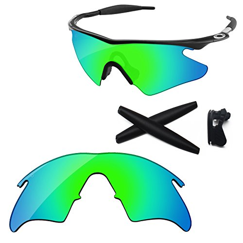 PapaViva Replacement Lenses & Rubber Kits for Oakley M Frame Heater Pro+ Bluish Green - Lenses Without Oakley Frames